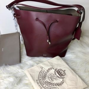 Lauren by Ralph Lauren Leather Tote bag with pouch
